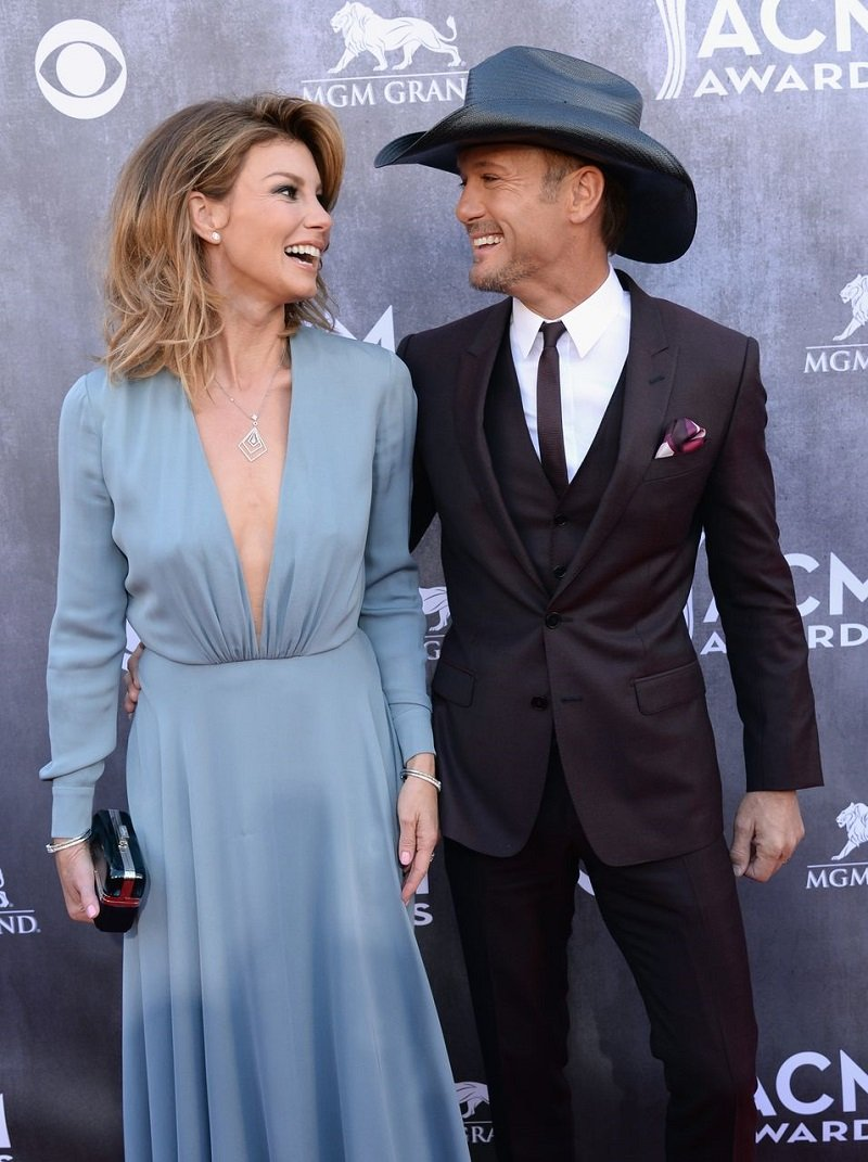 Faith Hill and Tim McGraw attending the 49th Annual Academy of Country Music Awards in Las Vegas, Nevada in April 2014. | Image: Getty Images.