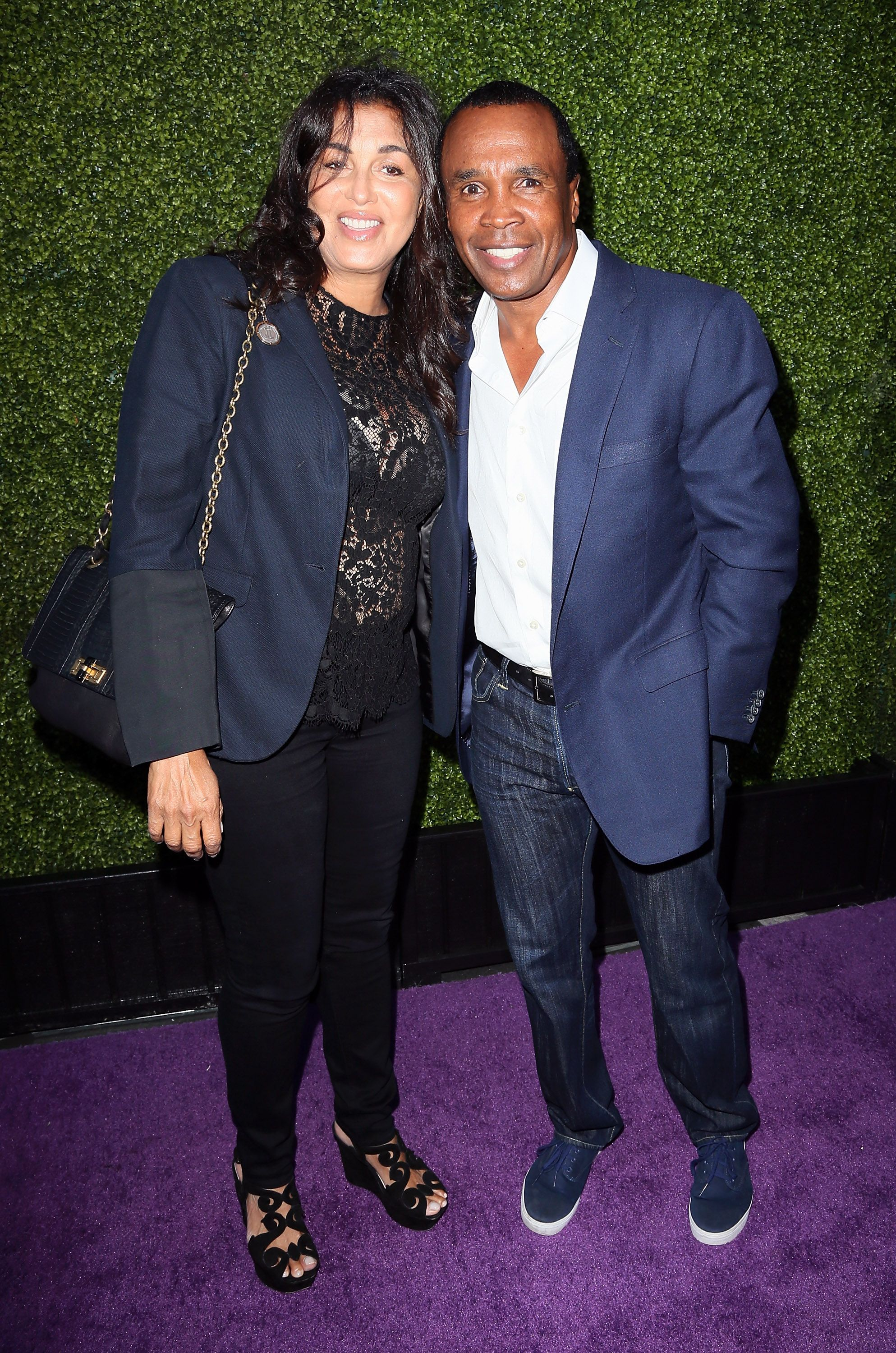 Sugar Ray Leonard and wife Bernadette Robi attend the HollyRod Foundation's 16th Annual DesignCare at The Lot Studios on July 19, 2014 in Los Angeles, California.   Source: Getty Images