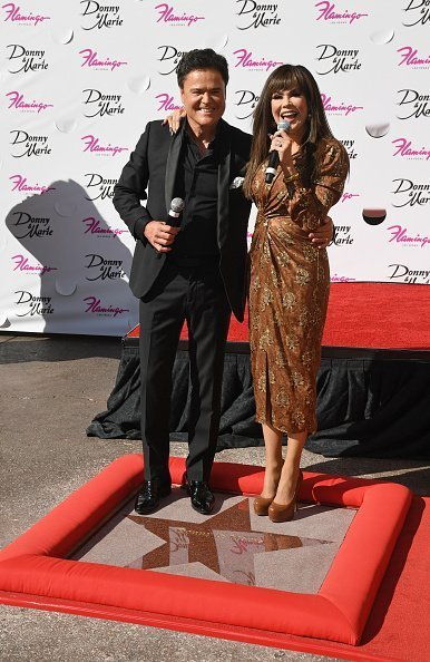 Donny Osmond and Marie Osmond speak after unveiling their star on October 4, 2019 | Photo: Getty Images