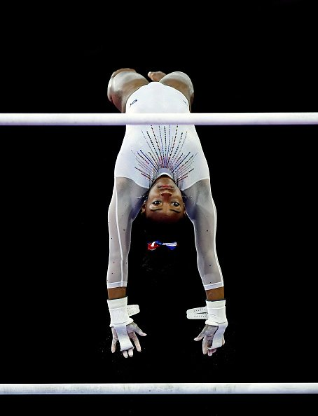 Simone Biles of USA at the Women's All-Around Final on October 10, 2019 | Photo: Getty Images