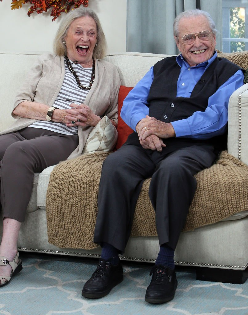 "Actress Bonnie Bartlett (L) and husband actor William Daniels visit Hallmark's ""Home & Family"" 