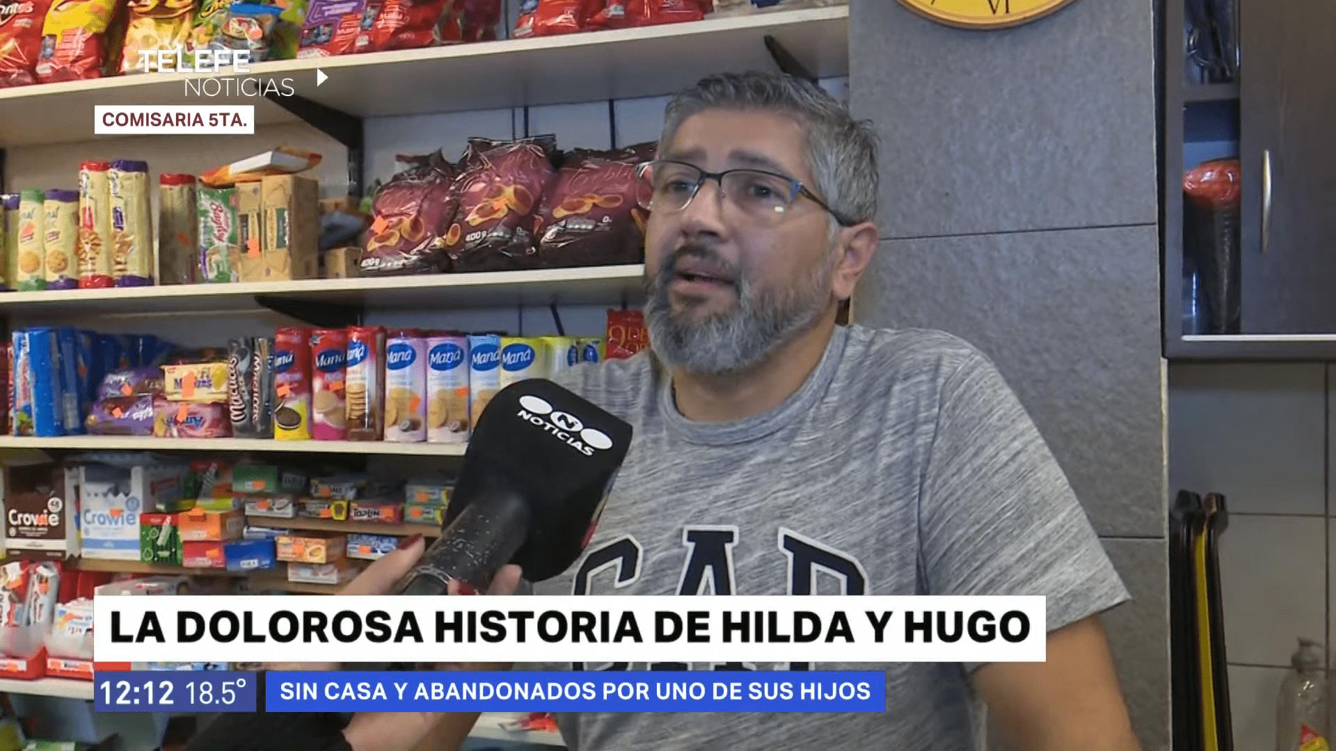El dueño del bar donde dejaron a Hugo e Hilda habló con los medios │Imagen tomada de: YouTube / Telefe Rosario