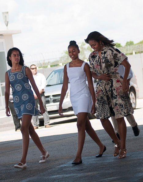 Michelle Obama with daughters Malia & Sasha on June 21, 2015 in Venice, Italy | Photo: Getty Images