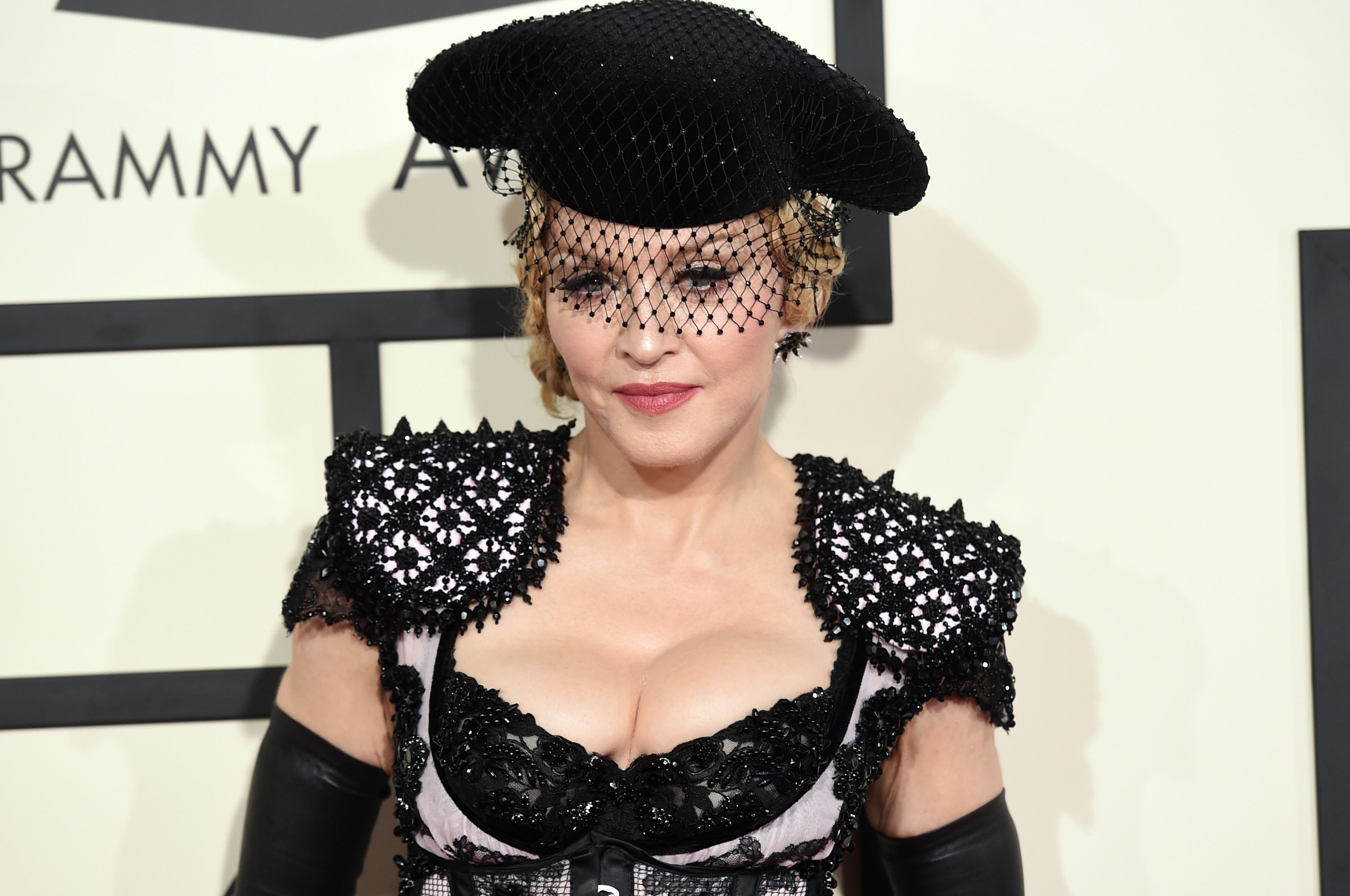 Madonna at the 57th Annual Grammy Awards in February 2015 in Los Angeles, California | Source: Getty Images
