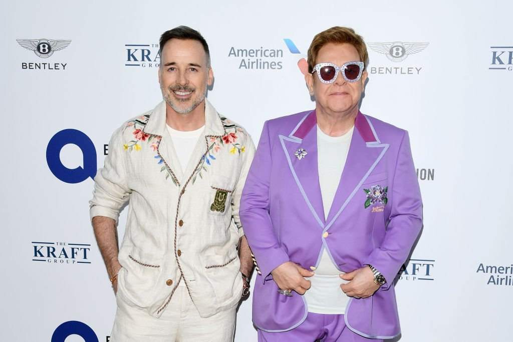 "Sir Elton John and David Furnish attend the first ""Midsummer Party"" 