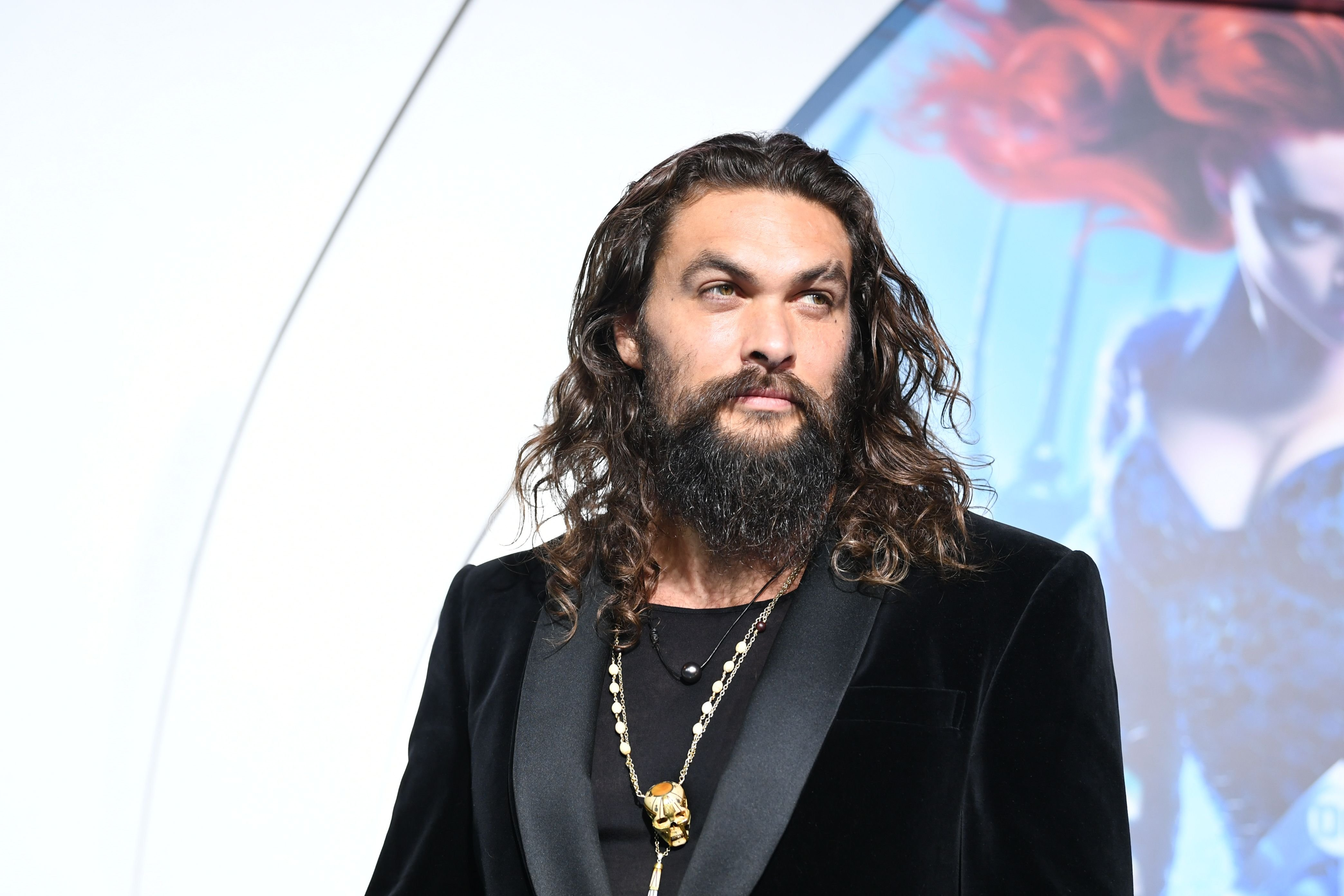 """Jason Momoa at the premiere of Warner Bros. Pictures' """"Aquaman"""" at the Chinese Theatre on December 12, 2018 in Los Angeles, California. 