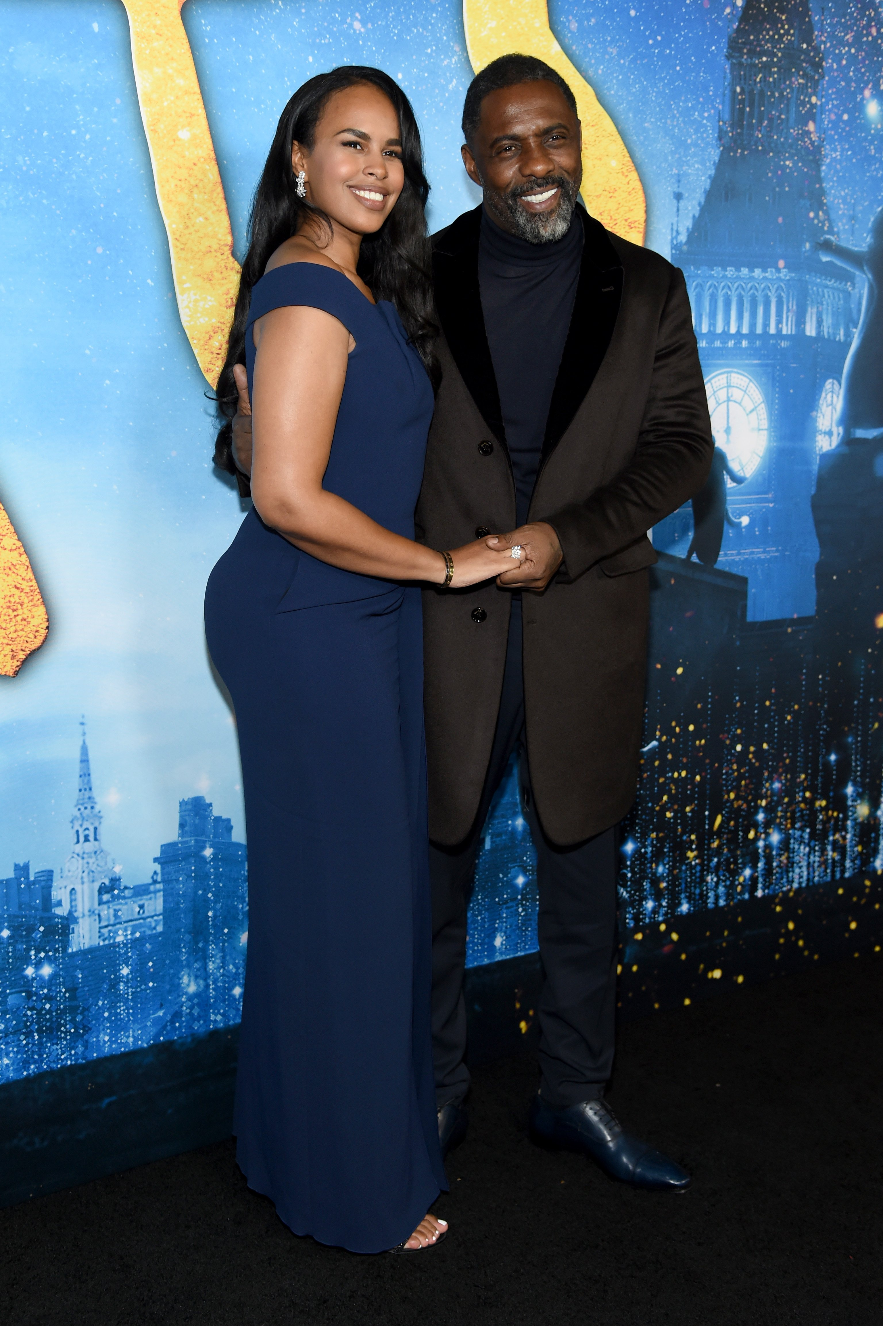 """Sabrina Elba and Idris Elba at the world premiere of """"Cats"""" in New York City on December 16, 2019. 