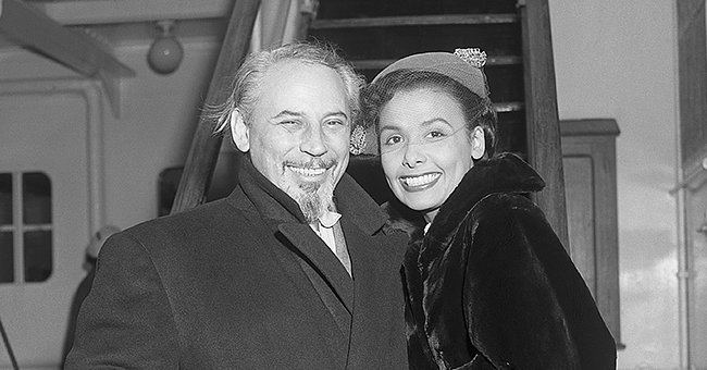 Lena Horne, well known nightclub singer, and her husband, Lennie Hayton sailing aboard the liner Ile De France, March 5 1952.   Photo: Getty Images