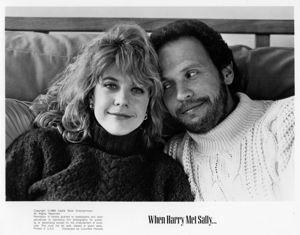 "Meg Ryan and Billy Crystal pose for the movie ""When Harry Met Sally"" circa 1989. 