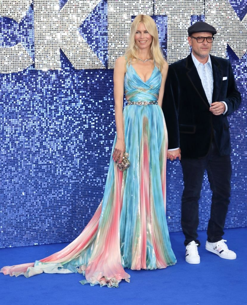 Claudia Schiffer et Matthew Vaughn assistent à la première britannique de Rocketman à l'Odeon Luxe, Leicester Square. | Photo : Getty Images