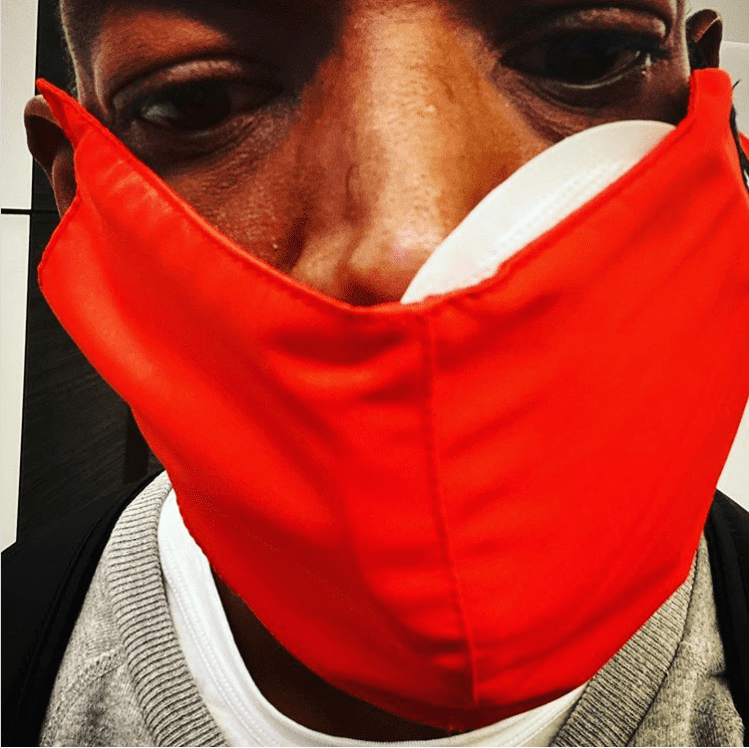 Marlon Wayans wearing a facial mask after undergoing two hours of oral surgery | Photo: Instagram/marlonwayans