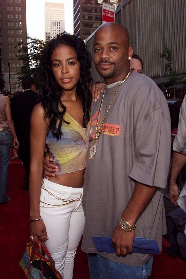 Aaliyah and Dame Dash at the Ziegfeld Theater in New York City, July 23, 2001 | Source: Source: Getty Images