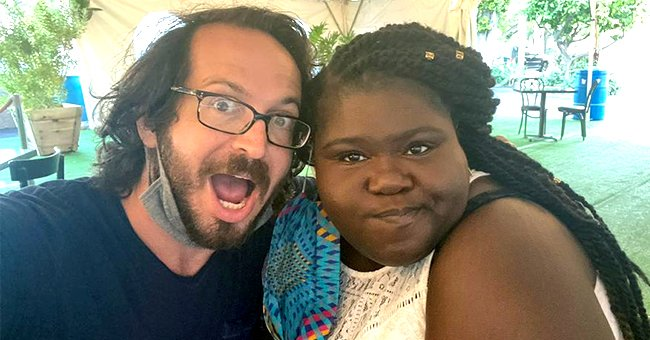 Gabby Sidibe's Fiancé Brandon and His Family Celebrate Her Birthday with a Rainbow Cake and Roses