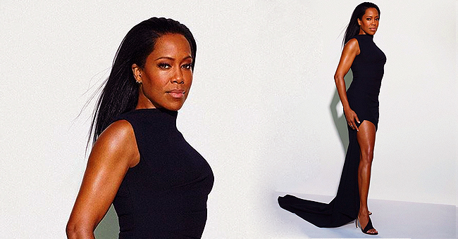 Regina King of '227' Stuns in Black Gown as She Covers November Issue of 'Marie Claire'