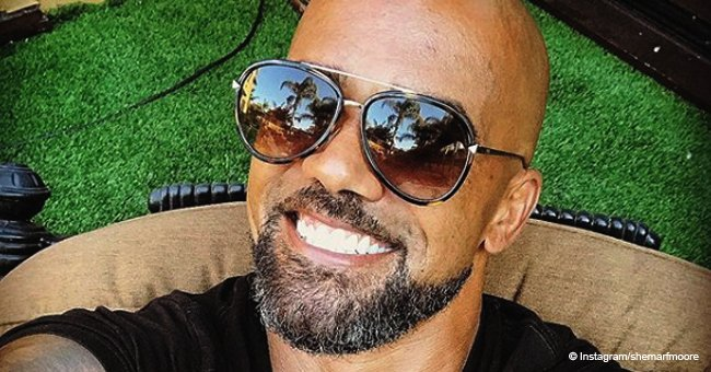 Shemar Moore has 'family fun' with his white 'momma Marilyn' & 'favourite uncle' in recent photo