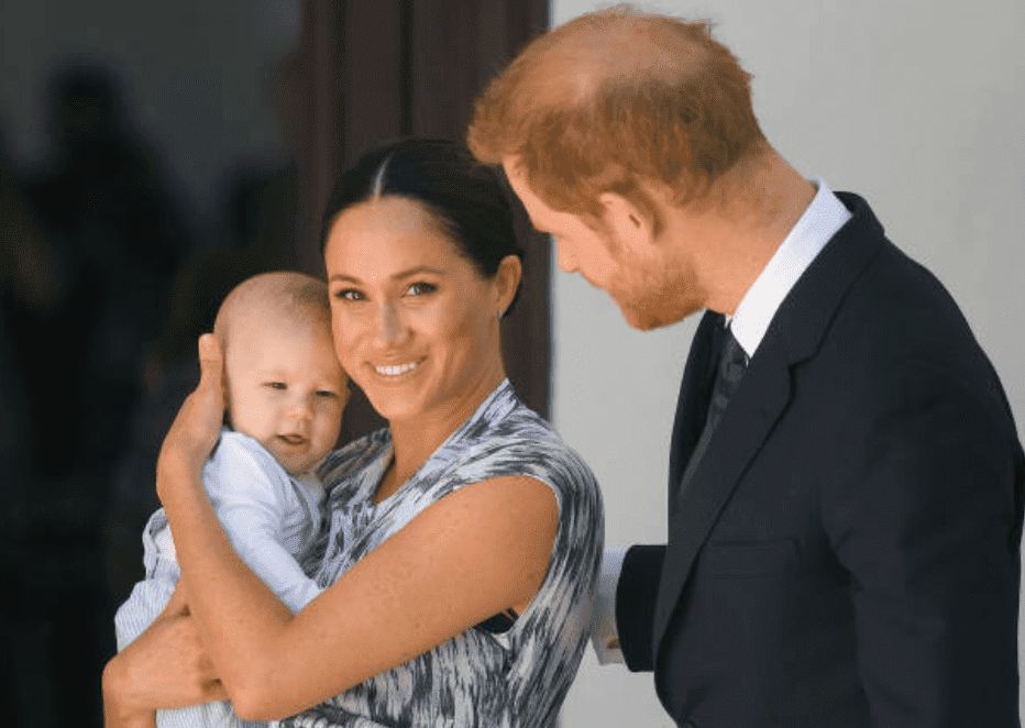 During their royal tour of South Africa Prince Harry, Meghan Markle and their son Archie Mountbatten-Windsor arrive at the Desmond & Leah Tutu Legacy Foundation to meet Archbishop Desmond Tutu on September 25, 2019, in Cape Town, South Africa | Photo: Getty Images