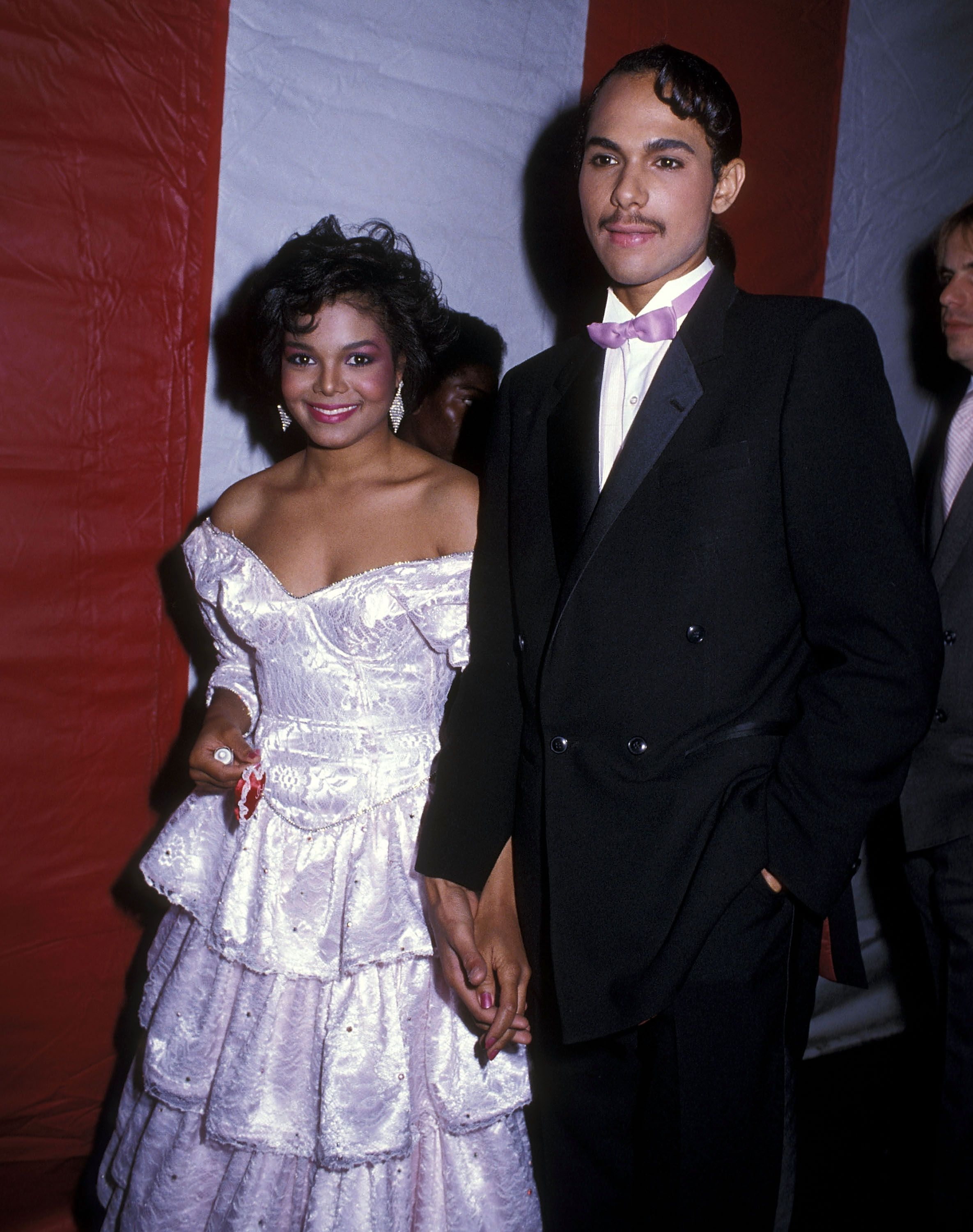 Janet Jackson and James DeBarge at the 12th Annual American Music Awards in 1985 | Source: Getty Images