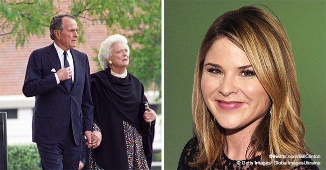 Jenna Bush Hager praises Bill Clinton for his throwback photo of Barbara and George H. W. Bush