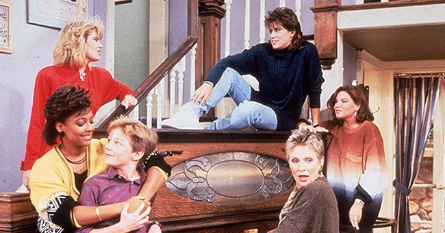 """Cast of the '80s sitcom, """"Facts of life"""" on set of the movie.