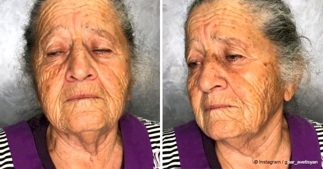 Girl gave grandmother a makeover and the results might make you emotional