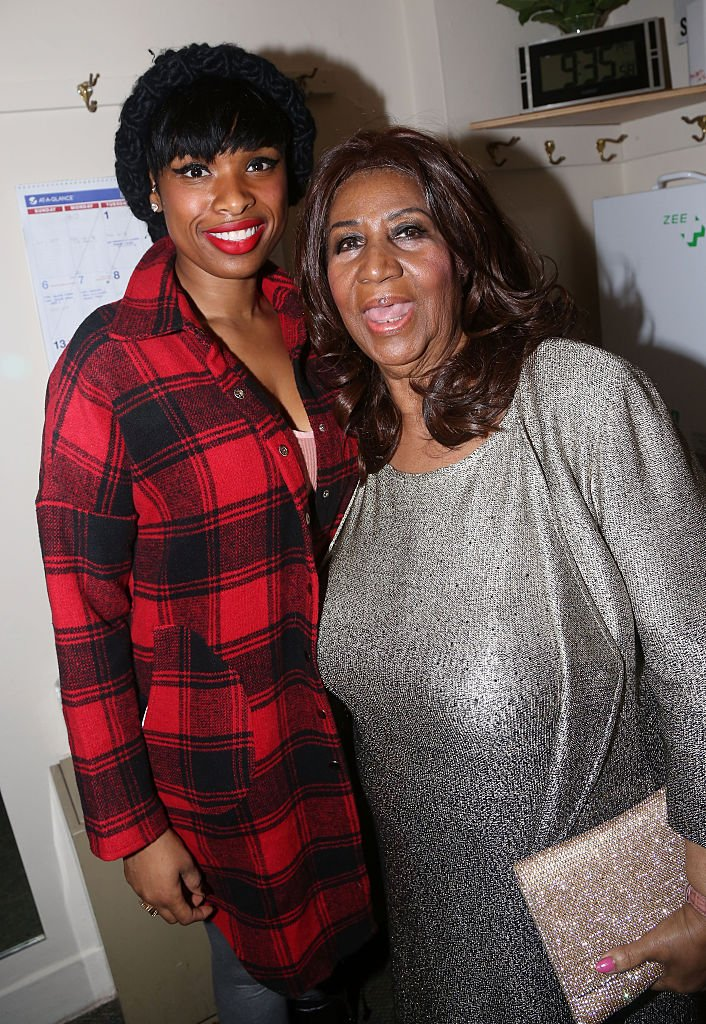 """Jennifer Hudson and Aretha Franklin pose backstage at the hit musical """"The Color Purple""""  Photo: Getty Images"""