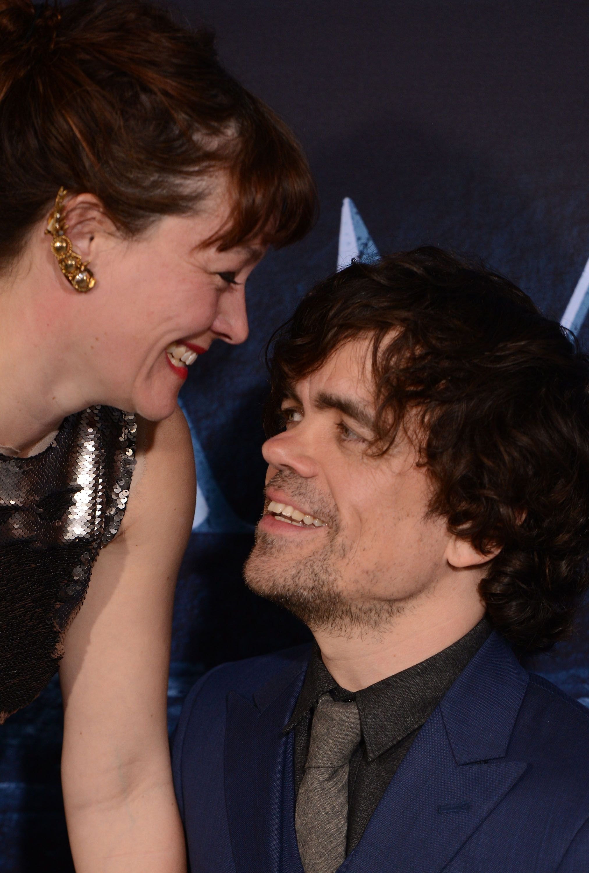 Peter Dinklage and Erica Schmidt at the premiere of HBO's 'Game Of Thrones' Season 6 in 2016 in Hollywood, California   Source: Getty Images