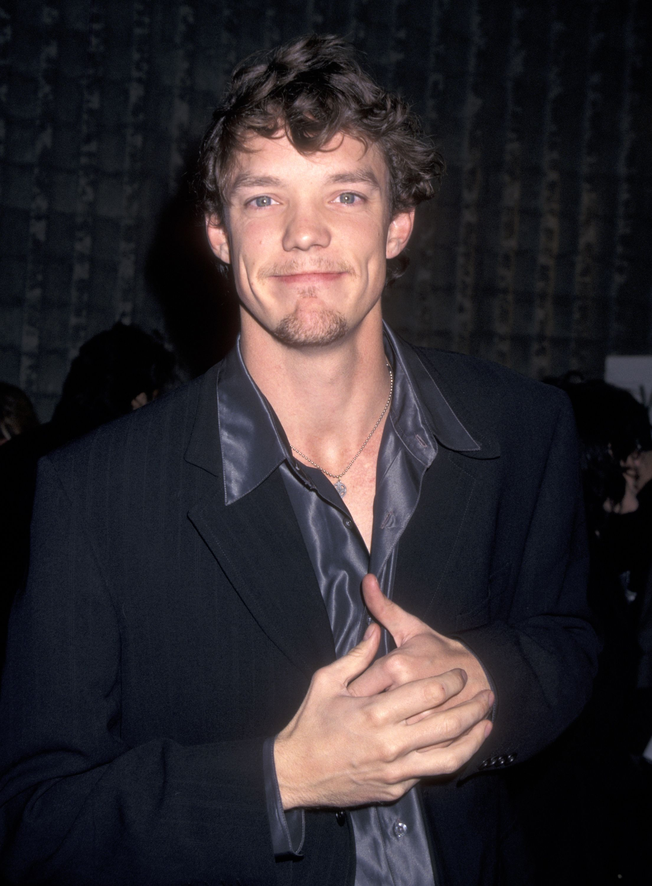 "Matthew Lillard at the ""Scream"" Los Angeles premiere in 1996 