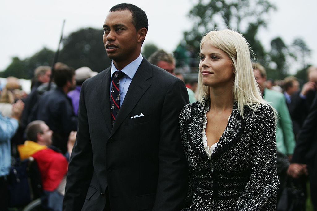 Tiger Woods and his wife Elin look on during the Opening Ceremony of the 2006 Ryder Cup at The K Club on September 21, 2006. | Photo: GettyImages