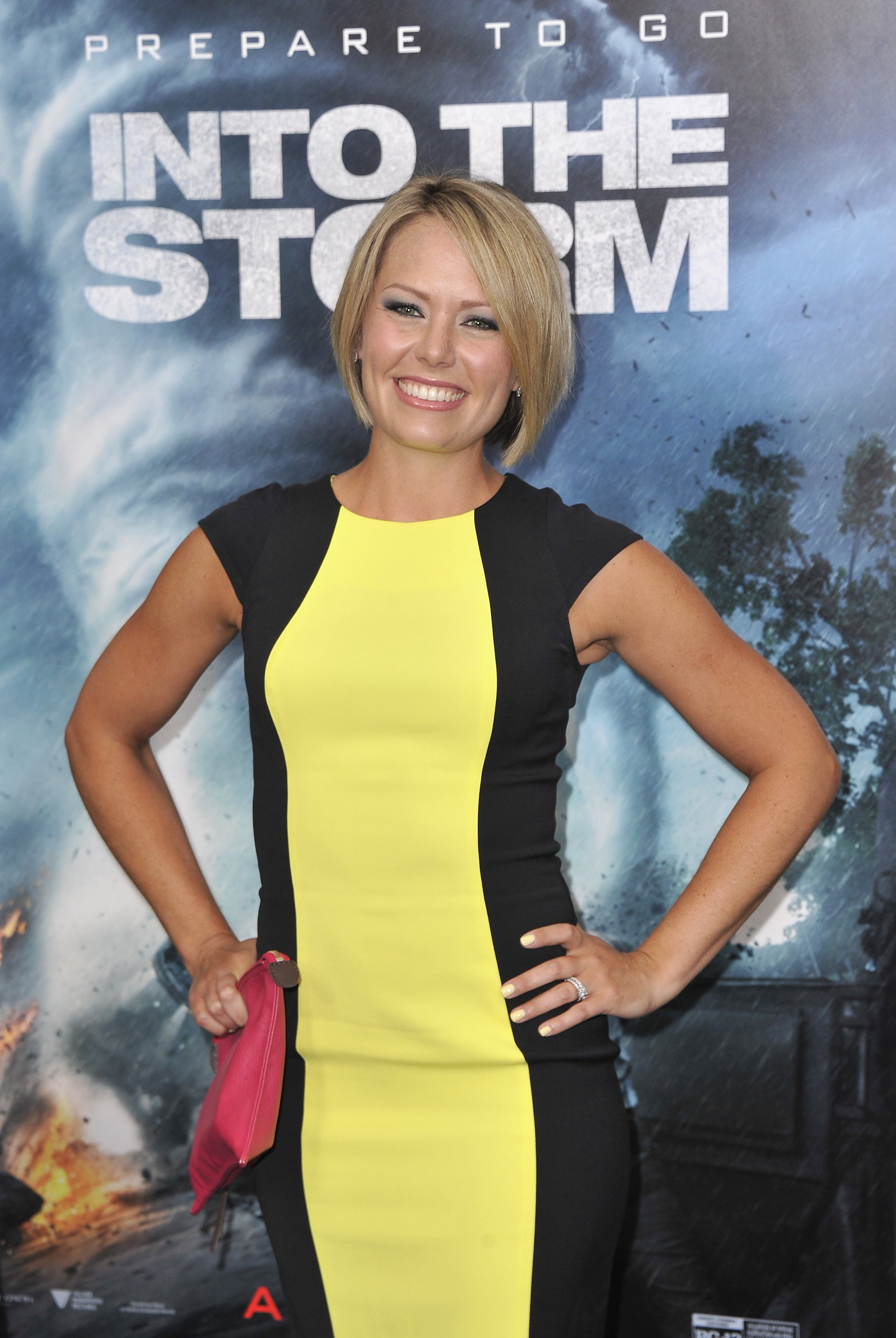 """Dylan Dreyer attends the premiere of """"Into the Storm"""" in New York City on August 4, 2014 