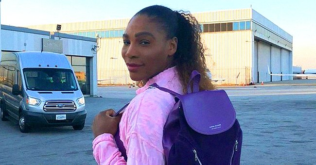 Serena Williams Shows off Her Buttocks Posing in Tight Gray Leggings with Matching Top (Photo)