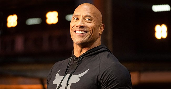 'The Rock' Reminisces about Wearing His Dad's Wrestling Gear & Belts in a Cool Throwback Photo