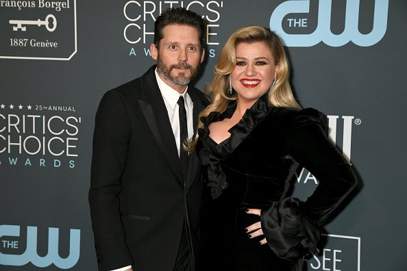 Brandon Blackstock and Kelly Clarkson at Barker Hangar on January 12, 2020 in Santa Monica, California. | Photo: Getty Images