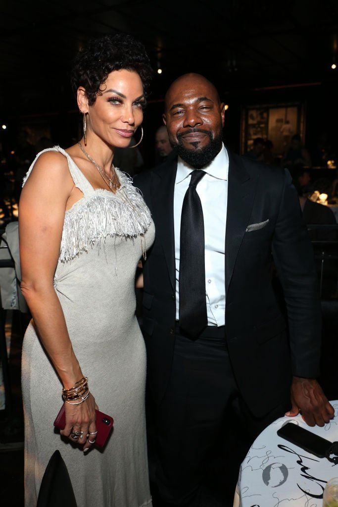 """Nicole Murphy and Antoine Fuqua at the after party for HBO's """"What's My Name: Muhammad Ali"""" held at Regal Cinema in Los Angeles on May 8, 2019."""