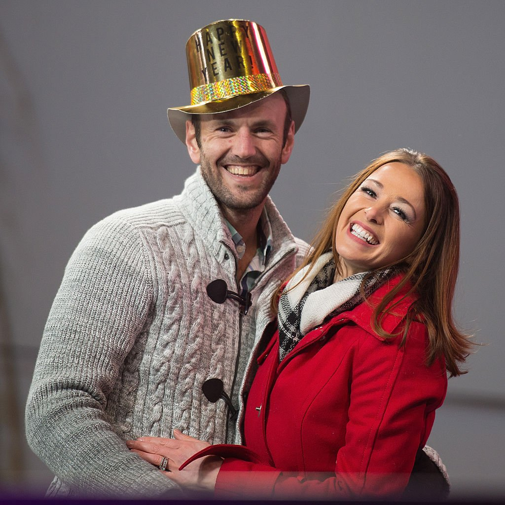 Doug Hehner and Jamie Otis attend New Year's Eve in Times Square on December 31, 2016 | Photo: Getty Images
