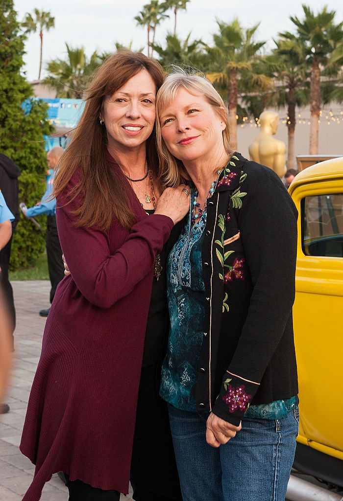 "Mackenzie Phillips and Candy Clark at The Academy Of Motion Picture Arts And Sciences' screening Of ""American Graffiti"" in 2013 