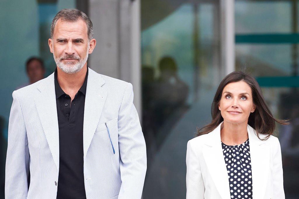 El rey Felipe VI y la reina Letizia el 25 de agosto de 2019 en Pozuelo de Alarcón, España. | Imagen: Getty Images