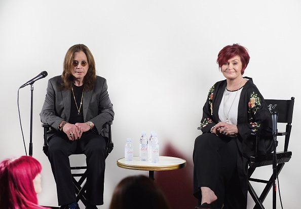 "Ozzy Osbourne and Sharon Osbourne at Ozzy Osbourne Announces ""No More Tours 2"" Final World Tour At Press Conference At His Los Angeles Home in Los Angeles 