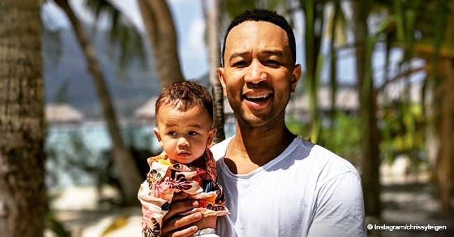 John Legend Shares Video of 9-Month-Old Miles Adorably Singing into a Toy Mic