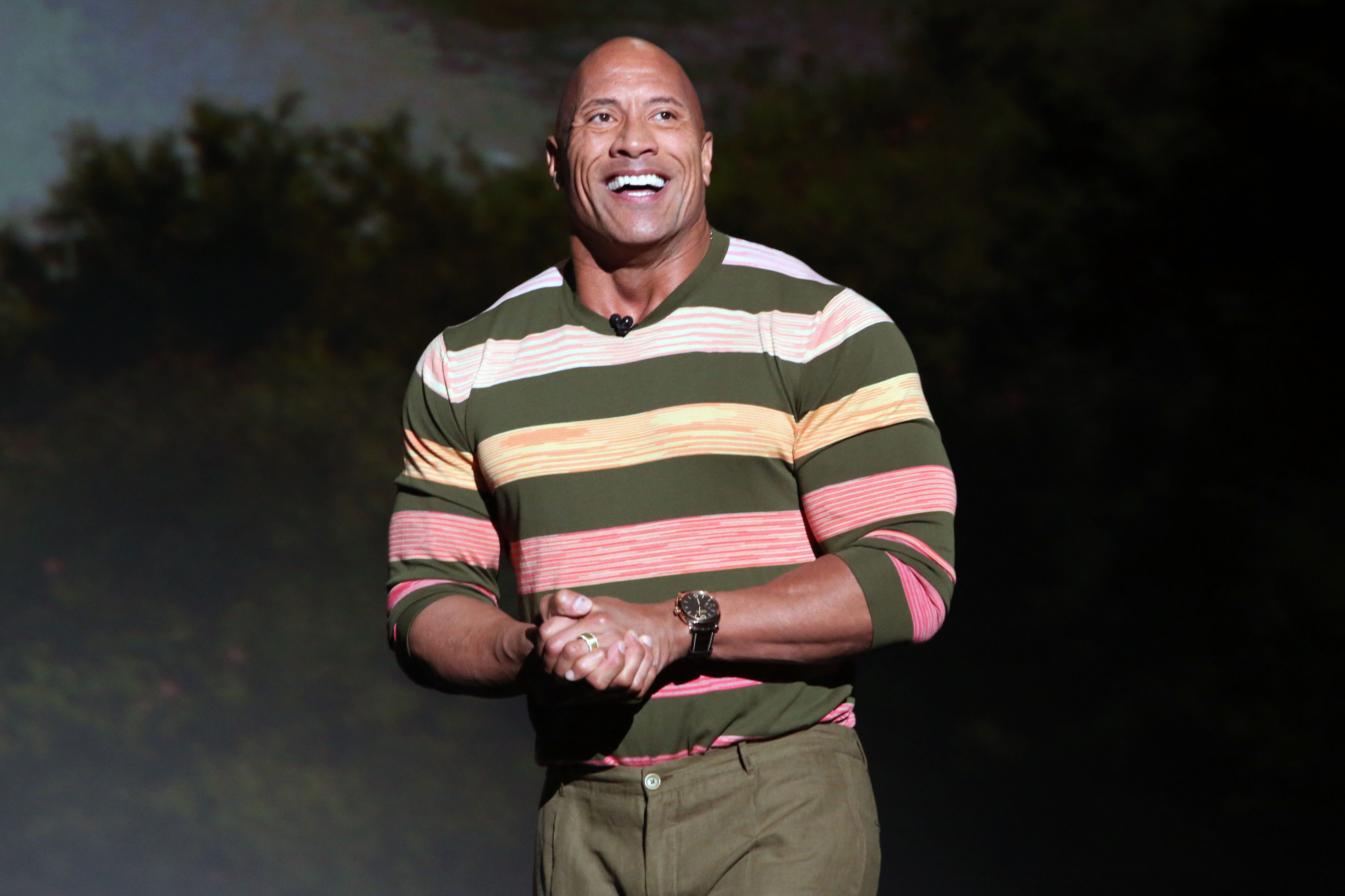 Dwayne Johnson at the Walt Disney Studios presentation in Anaheim, California on August 24, 2019 | Photo: Jesse Grant/Getty Images