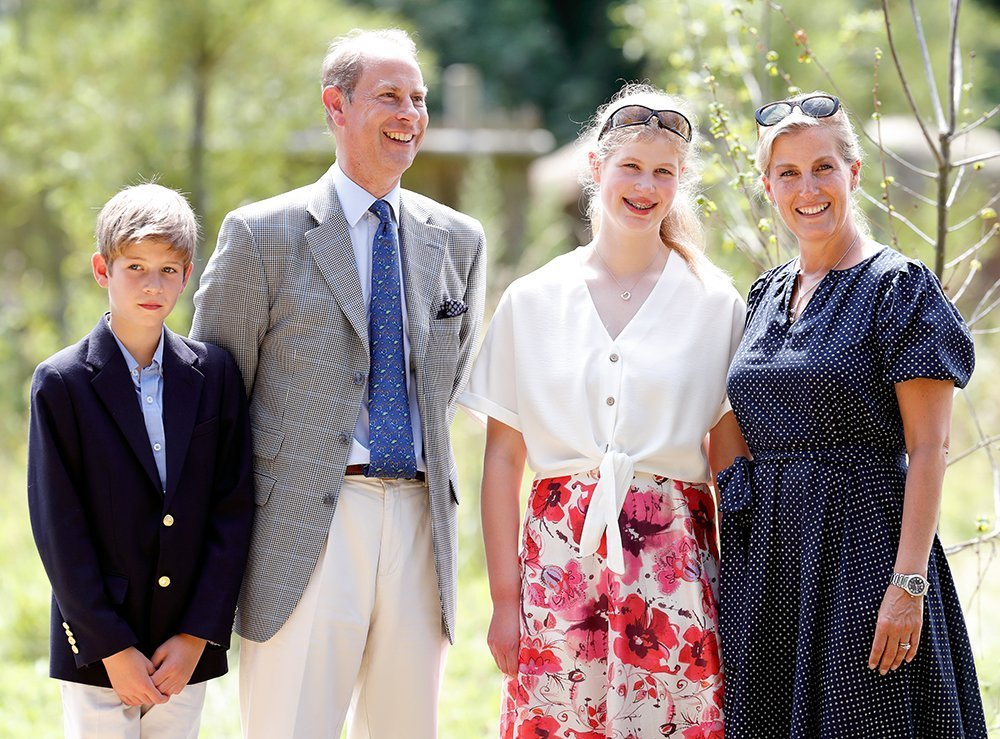 Prince Edward, Earl of Wessex and Sophie, Countess of Wessex with James Viscount Severn and Lady Louise Windsor during a visit to The Wild Place Project at Bristol Zoo on July 23, 2019 | Photo: Getty Images