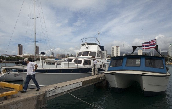 Natalie Woods' former boat, The Splendour is seen docked at Keawalo Basin boat harbor on November 19, 2011, in Honolulu, Hawaii. | Source: Getty Images.
