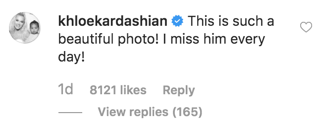 Khloe Kardashian comments on Kim Kardashian's tribute to the 16 years anniversary of her father, Robert Kardashian Senior's death | Source: instagram.com/kimkardashian