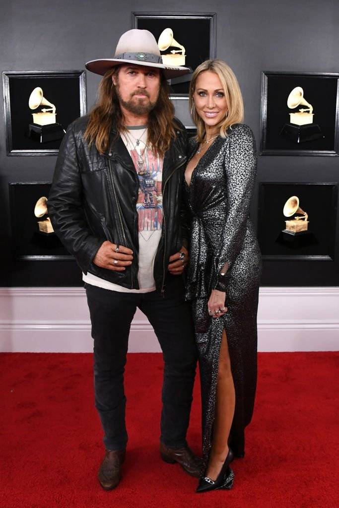 Billy Ray Cyrus and Tish Cyrus at the 61st Annual GRAMMY Awards on February 10, 2019   Photo: GettyImages