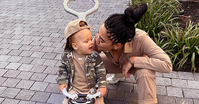 Ayesha Curry's Son Canon Is Her Mini-Me as They Go Twinning in Tan Outfits in Pics