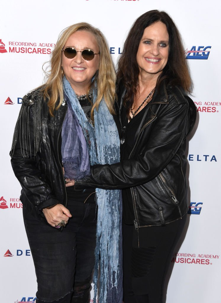 Melissa Etheridge and Linda Wallem arrives at the 2020 MusiCares Person Of The Year Honoring Aerosmith at West Hall At Los Angeles Convention Center on January 24, 2020 in Los Angeles, California. | Source: Getty Images