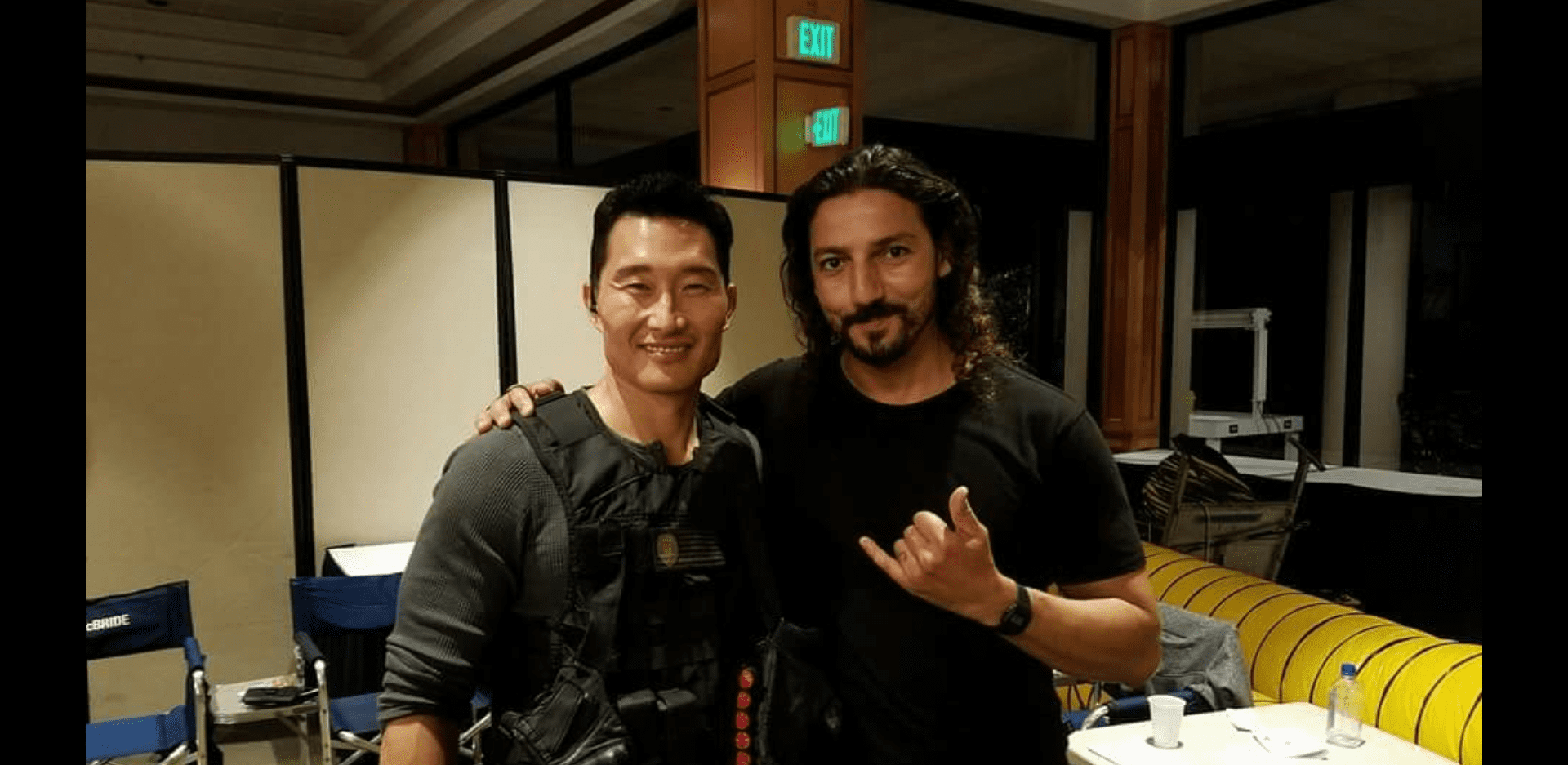 """Daniel Dae Kim and Solimane Lamouri on the set of """"Hawaii Five-O"""" onMarch 15, 2017 