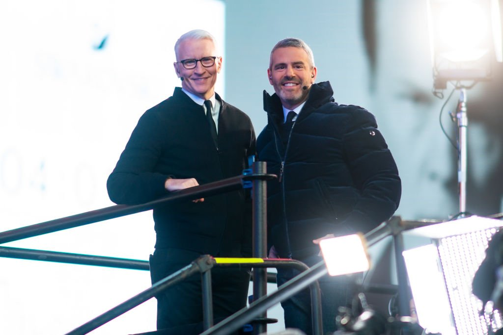 Anderson Cooper and Andy Cohen at Times Square New Year's Eve 2020 Celebration on December 31, 2019 in New York City   Photo: Getty Images