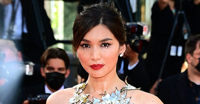 """Gemma Chan attends the """"OSS 117: From Africa With Love"""" final screening at 74th annual Cannes Film Festival on July 17, 2021 in France. 