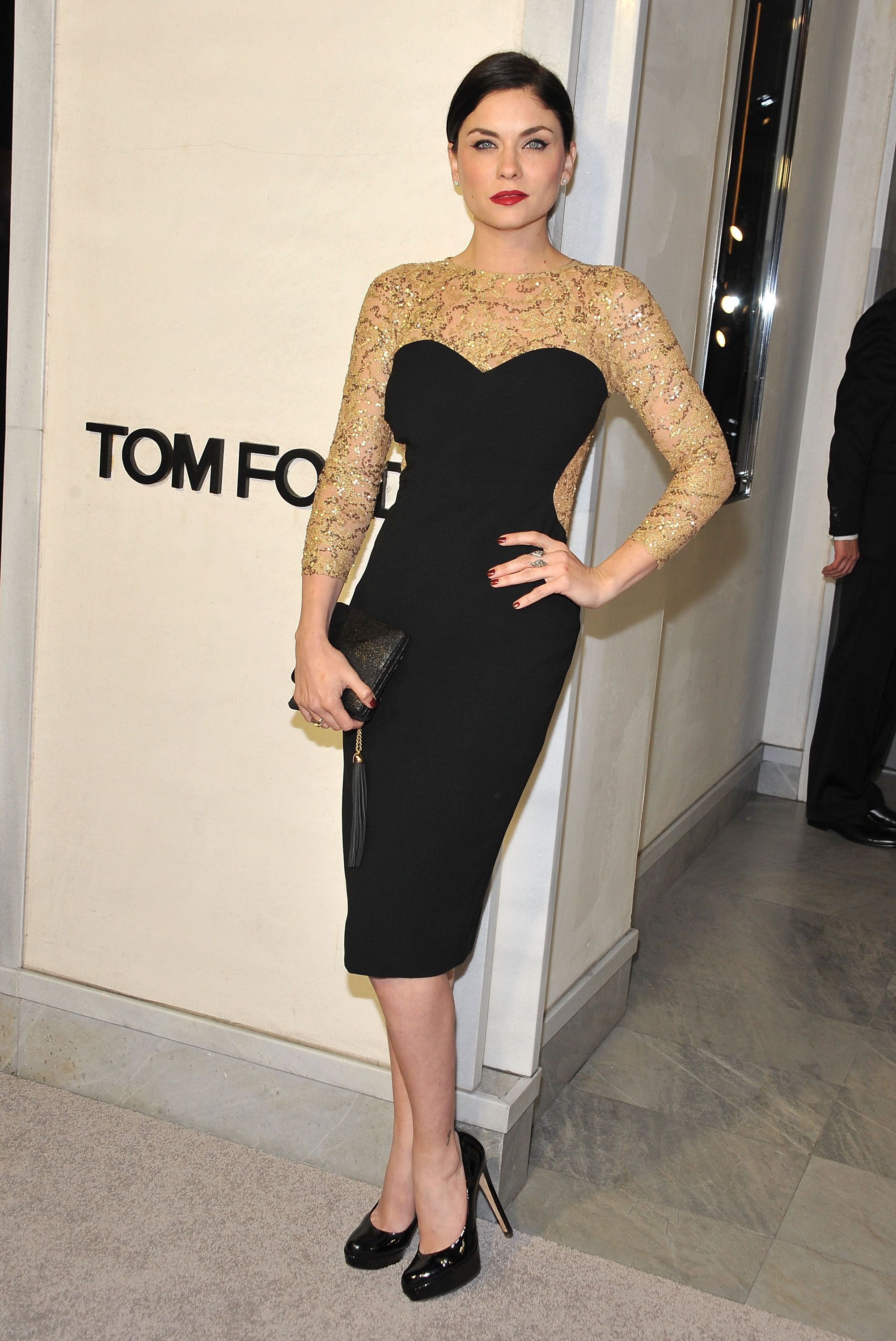 Jodi Lyn O'Keefe attends Tom Ford's cocktail event in support of Project Angel Food in 2013 | Source: Getty Images
