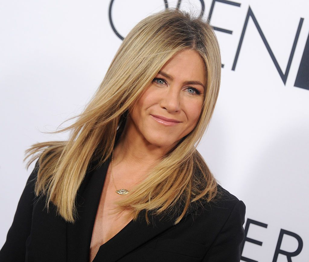 "Actress Jennifer Aniston at the Open Roads World Premiere Of ""Mother's Day"" at TCL Chinese Theatre IMAX on April 13, 2016 
